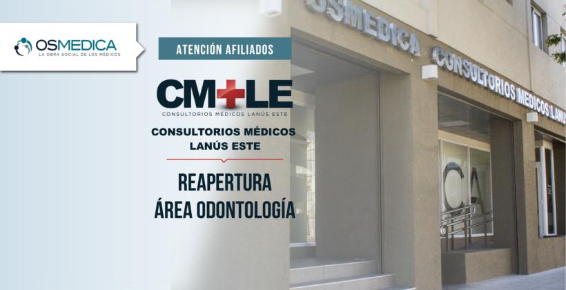 Reapertura Odontología en el Centro Médico Lanús Este