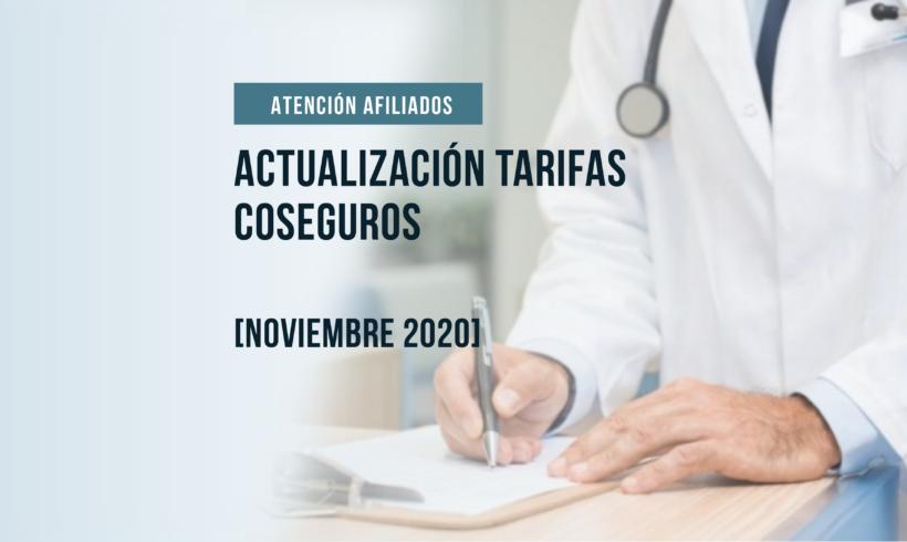 Actualización de tarifas de coseguros  noviembre 2020